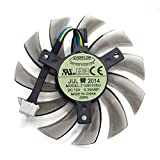 Tebuyus Replacement Video Card Cooling Fan for GTX780 GTX770 GTX680 GTX760 Graphics Card Fan T128010SU DC 12V 0.35A 4 Pin 75mm