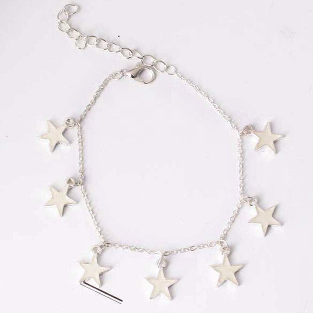 Bracelets for Girls Fashion Luminous Star Tassel Charm Ankle Bracelet Anklet Women Beach Jewelry