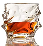 Set of 2 Whiskey Glasses – Everest Mountain Elegant PERFECT FATHERS DAY GIFT! – The Wine Savant New Style Old Fashioned Drink Glasses – Glassware set – Scotch Brandy or Bourbon Tumblers, 12 oz. For Sale