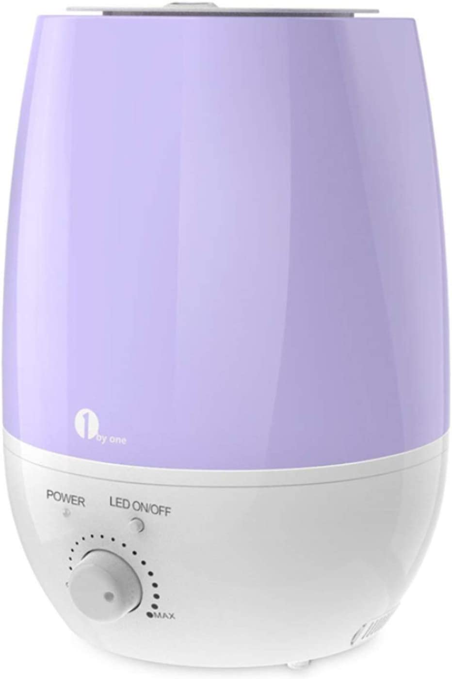 1byone Cool Mist Humidifier, 6L 1.59Gal Ultrasonic Humidifiers for Home Office Essential Oil Aroma Diffuser Humidifier for Baby Bedroom Auto Shut-Off 7 Colors LED Night Light 20-80 Hours Working Time