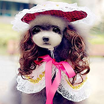 7bb40e344f24a Amazon.com   BUYITNOW Victorian Pet Clothes for Dogs Lace Princess ...