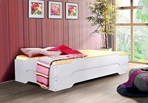 Pila de invitados o - MIA - 90 x 200 madera maciza de pino blanco ...