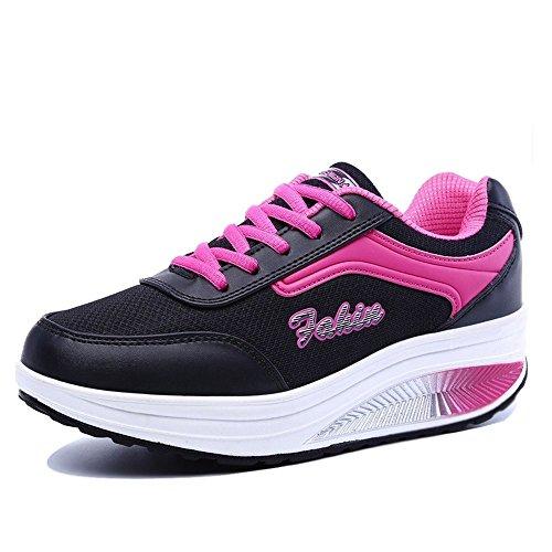 XMeden - Zapatillas de running para mujer Rx8391 Black