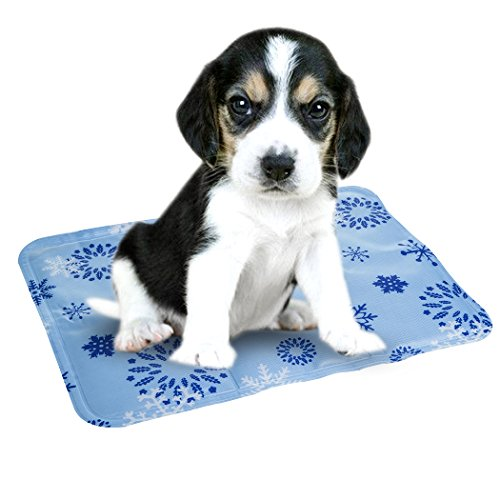 Hgrope Dog Cat Cooling Mat 12x15.75 Inches Soft Gel Pad for Kennels, Crates and Beds