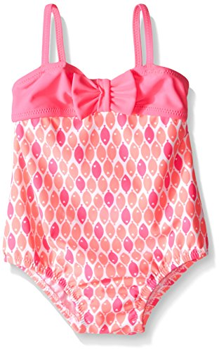 Osh Kosh Baby Front Bow One Piece Swimsuit, Pink, 18 Months