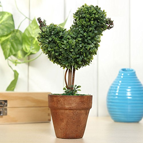 Topiary Bird (KINGSO Artificial Plants Mini Potted Plants Plastic Green Grass for Home Garden Decor Bird)