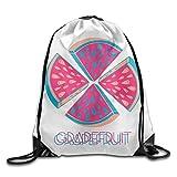Maurm Grapefruit Funny Art Drawstring Bags Animal Backpack Shoulder Bags Gym Sport Pack