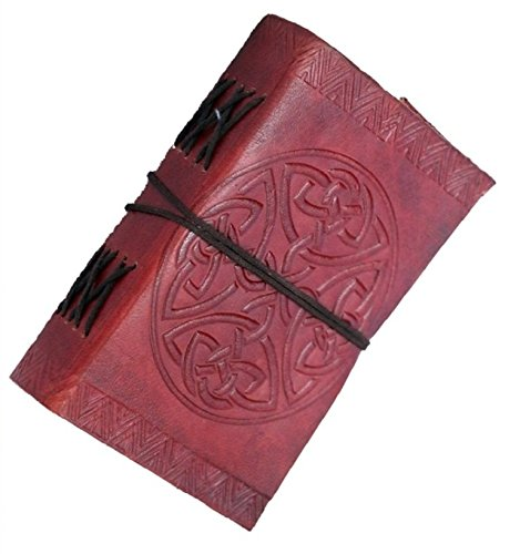 Phoenix Craft Handmade Leather JournalCeltic Round Design Bound Diary gift book sketchbook 5×3 Christmas gifts