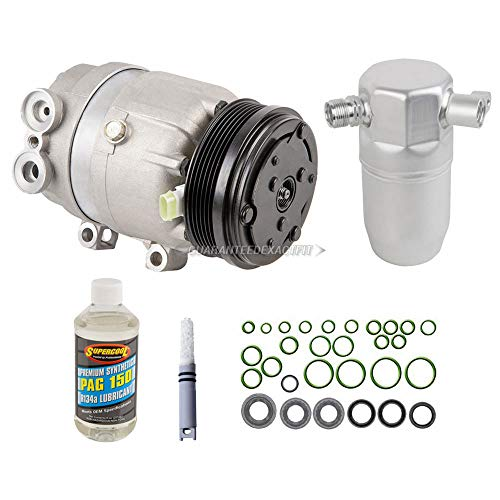 AC Compressor w/A/C Repair Kit For Oldsmobile Intrigue 1999 2000 2001 2002 - BuyAutoParts 60-80418RK New