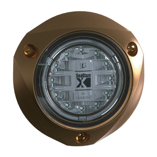 Lumitec SeaBlazeX Underwater Light-Bronze Finish-White Light by Lumitec