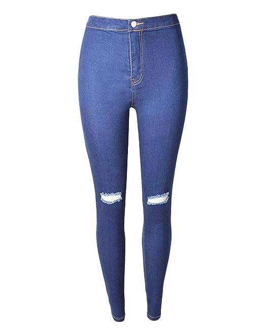 BIRAN Pantalones De Mezclilla Rasgados Rasgados para De ...