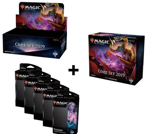 MTG Magic Core 2019 Booster Box + Bundle + All 5 Planeswalkder Decks