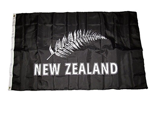 ALBATROS 3 ft x 5 ft New Zealand Silver Fern 100D Premium Quality Flag Brass Grommets for Home and Parades, Official Party, All Weather Indoors Outdoors