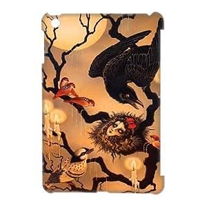 Crow YT011310 3D Art Print Design Phone Back Case Customized Hard Shell Protection Ipad Mini