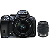 Pentax K-50 DSLR Camera with 18-55mm and 50-200mm Lenses (Metal Navy/Black)