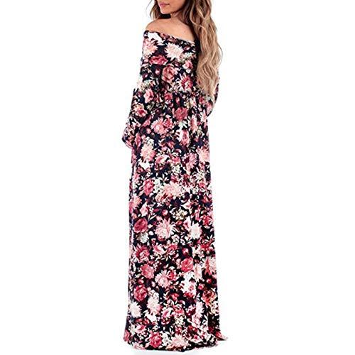 Maglia Casuale Vestito Di Lila Maxi Elegante Per Moda Da Ress Colore Donna  Impero Long Solido Gravidanza Donne Lunga ... 6b11ed612ac