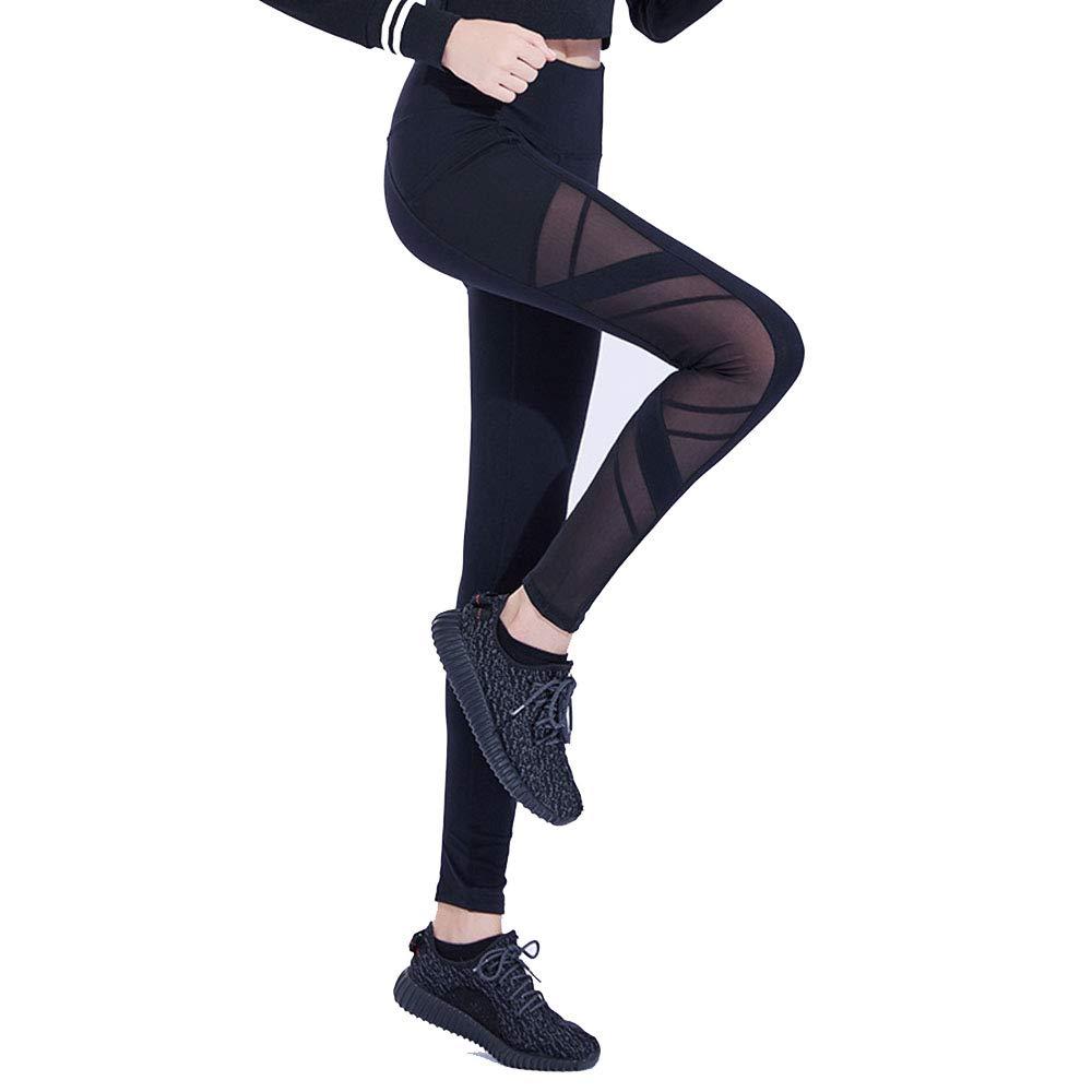 Yoga Workout Leggings Pants Women's Running Fitness Pants Tightening HighElastic HighWaist Hip Women's Yoga Pants (Size   S)