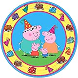 Amscan 541499 Round Plates | Peppa Pig Collection