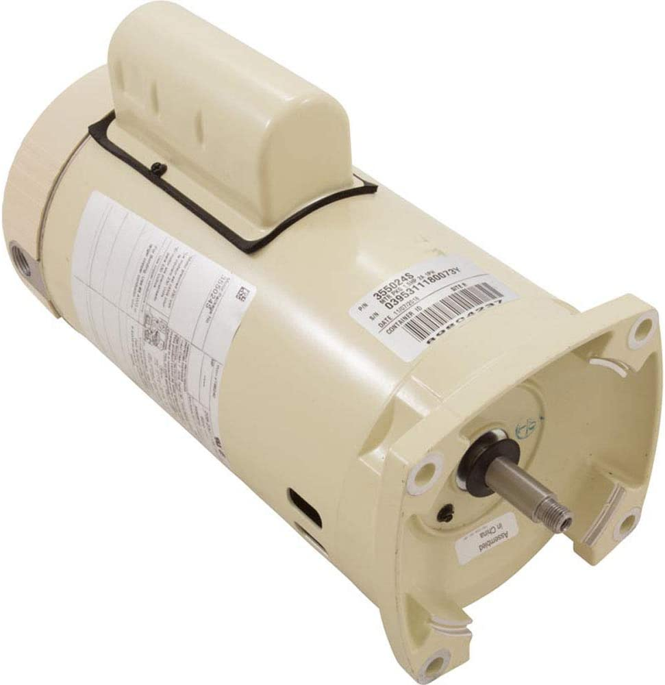 Pentair 355024S Single Phase Single Speed Square Flange Motor Replacement Pool and Spa Pump,1.5 HP, Almond