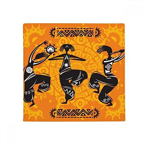 Dance People Mexico Totems Mexican Flute Anti-slip Floor Pet Mat Square Home Kitchen Door 80cm Gift by DIYthinker