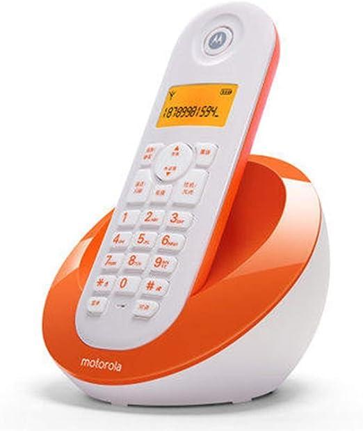WDWL Teléfono Inalámbrico Digital Teléfono Fijo Máquina Individual Madre Máquina Identificador De Llamadas Oficina En Casa WD (Color : Orange): Amazon.es: Electrónica