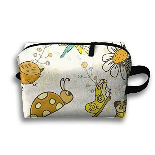 The Cartoon Snail Full Print Classic Travel Cosmetic Pouch Bag Lightweight Makeup Bag Cosmetic Bags For Travel Home Jewelry Pouch Pouch With Zipper (Simple Halloween Makeup Ideas For Women)