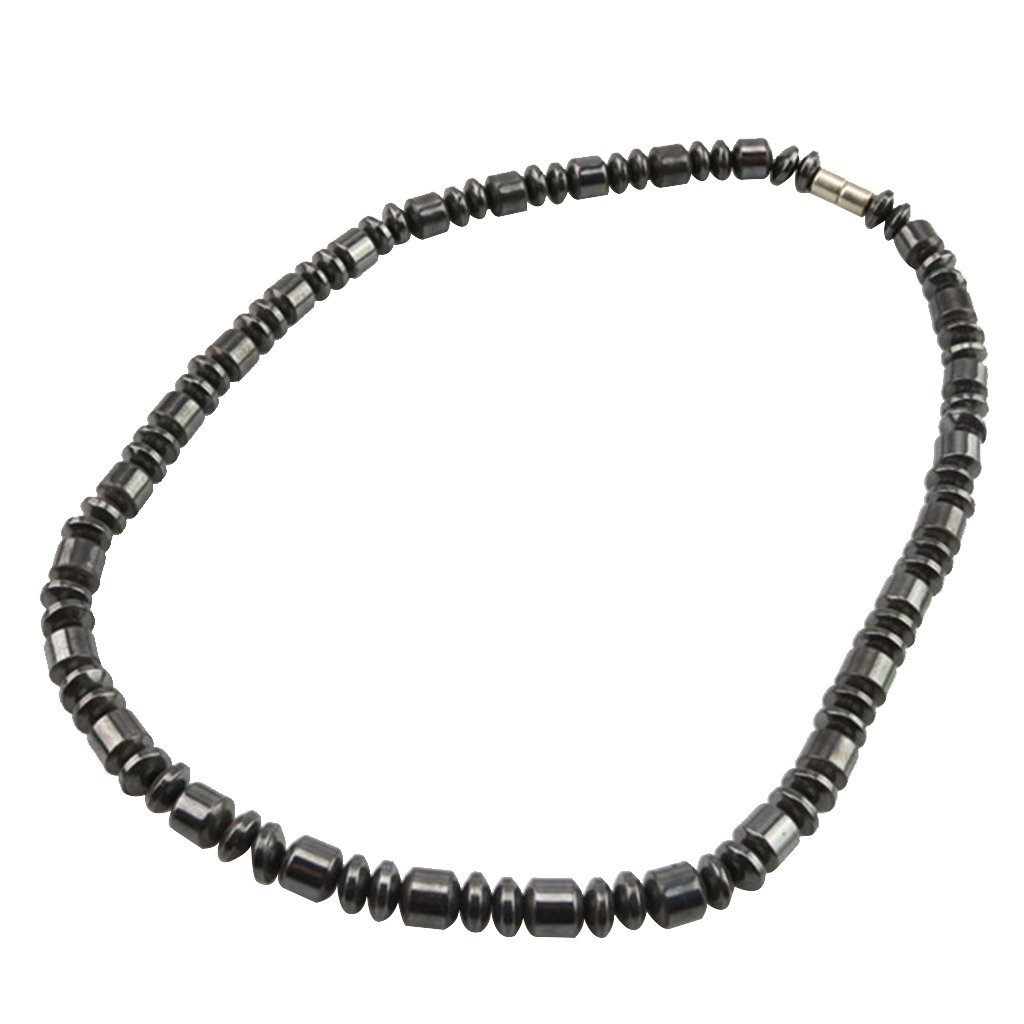 Fityle Jewelry Glass Hematite Necklace Magnetic Bracelet Men Chic Decoration Gifts