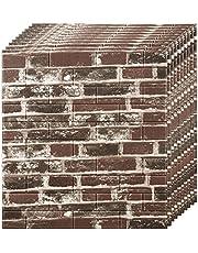 3D-wandpanelen Zelfklevende wandtegels Wandpanelen met baksteeneffect 70x77cm Bakstenen muursticker Zelfklevende 3d-wandbekleding Waterdichte DIY-bakstenen muurstickers