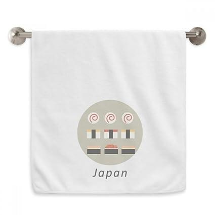 DIYthinker Local Tradicional Japonesa Sushi Diferente Circlet Blanca Toallas Toalla Suave paño de 13X29 Pulgadas 13