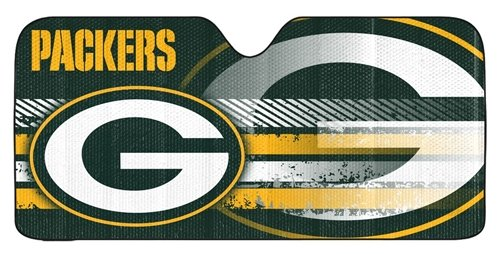 Green Bay Packers Auto Sun Shade - 59''x27'' Hall of Fame Memorabilia
