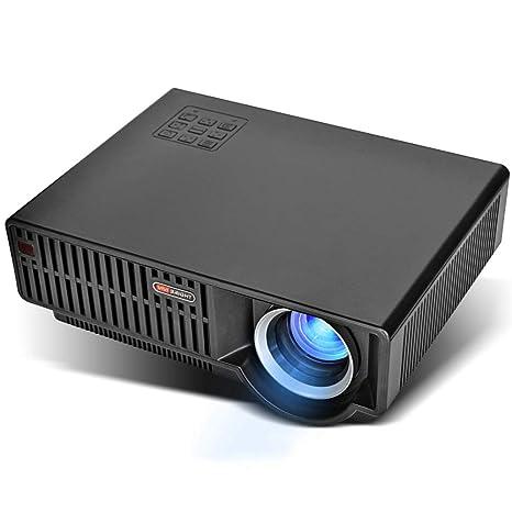BESTSUGER Mini proyector, proyector de película Full HD 1080P ...