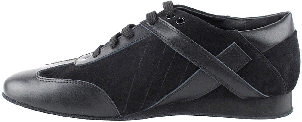 Men's Ballroom Latin Salsa Sneaker Dance Shoes Leather Black SERO106BBXEB Comfortable - Very Fine 8.5 M US [Bundle of 5] by Very Fine Dance Shoes (Image #4)