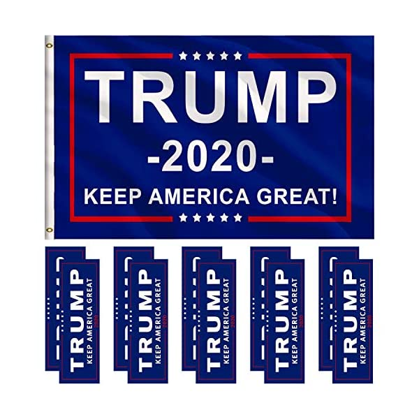 Jetec-1-Pack-President-Donald-Trump-Flag-2020-3-x-5-Feet-with-Grommets-and-10-Pieces-Bumper-Stickers-Car-for-Supporting-President-Trump