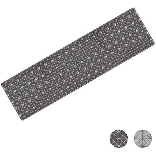 SueH Design Kitchen Mat Slip-Resistant, Anti Fatigue Comfort Flooring, Waterproof, Ergonomic Floor Pad, Rug for Office Stand Up Desk, 59x17x0.5 inches Black