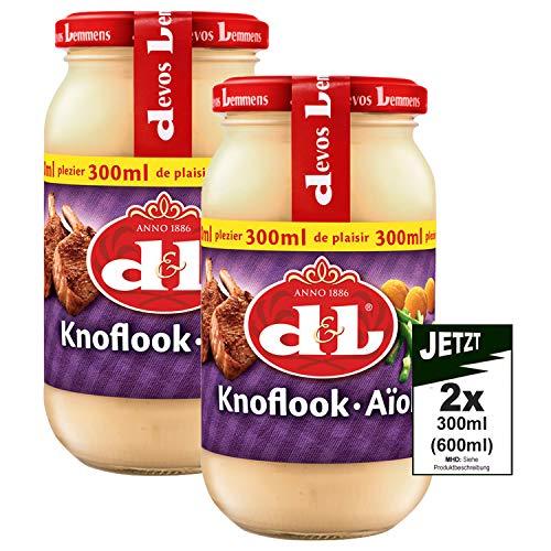 Devos Lemmens D & L Knoflook Aioli Sauce 2x 300ml (600ml) – knoflooksaus