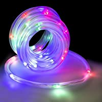 LED Concepts 50-LED Waterproof Solar Rope Tube Lights (Multi Color)