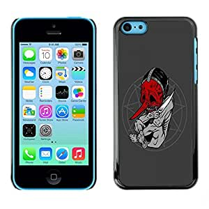 LECELL -- Funda protectora / Cubierta / Piel For Apple iPhone 5C -- Goth Satanist Abstract --