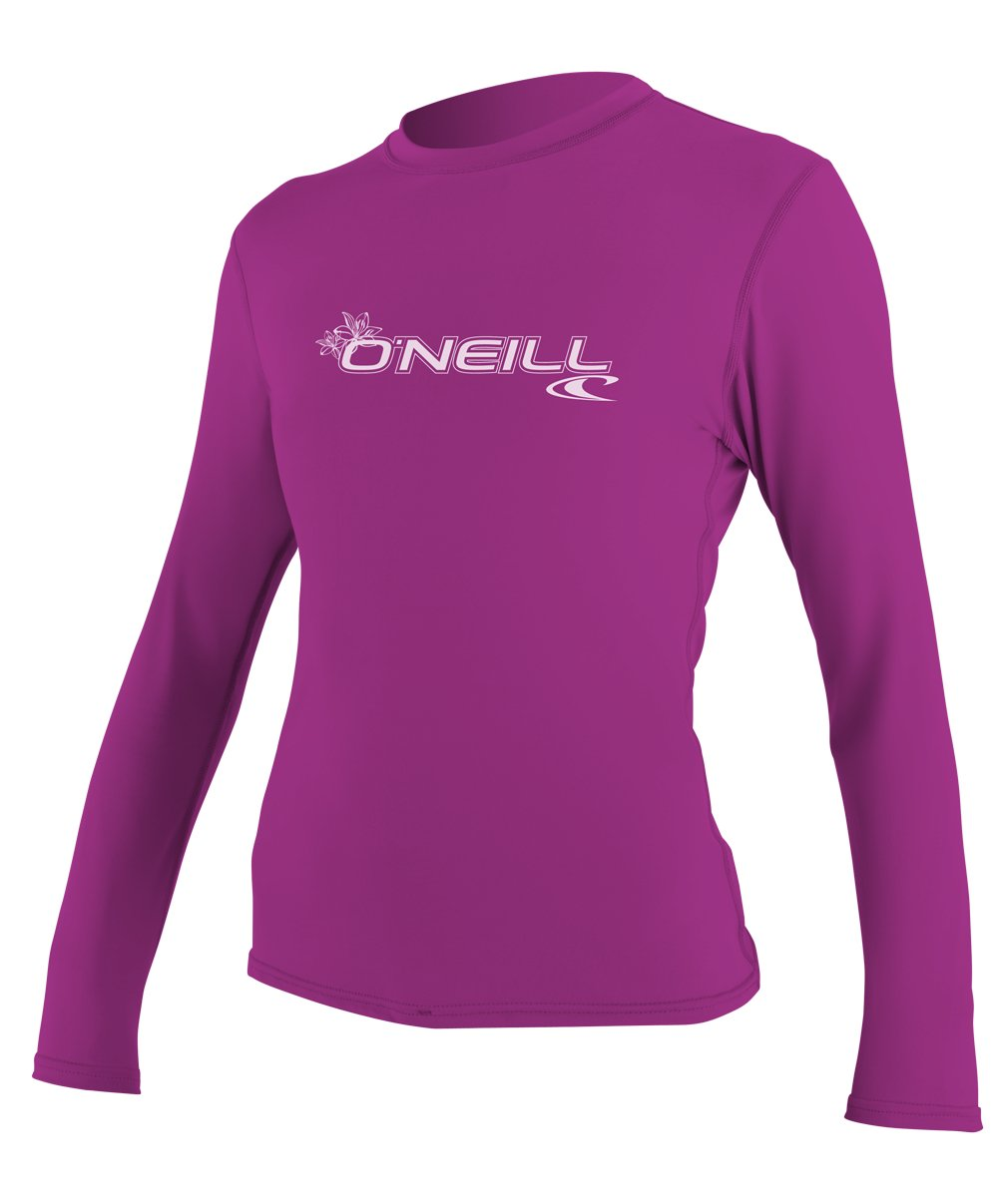 O'Neill Women's Basic Skins Upf 50+ Long Sleeve Sun Shirt, Fox Pink, X-Large by O'Neill Wetsuits
