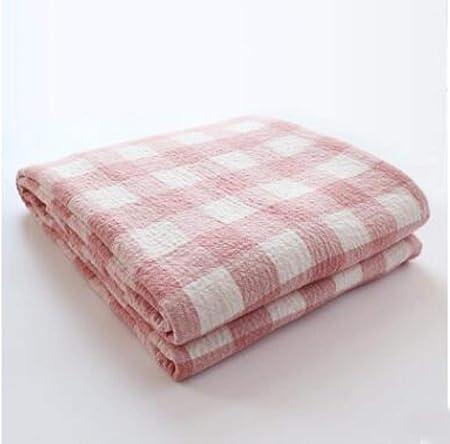 OGAWOO Manta de Toalla de algodón a Cuadros Cobertores Finos de Verano Colcha Avión Viajes Aire Acondicionado Mantas Mantas Suaves, Rojo, 200 x 230 cm: Amazon.es: Hogar