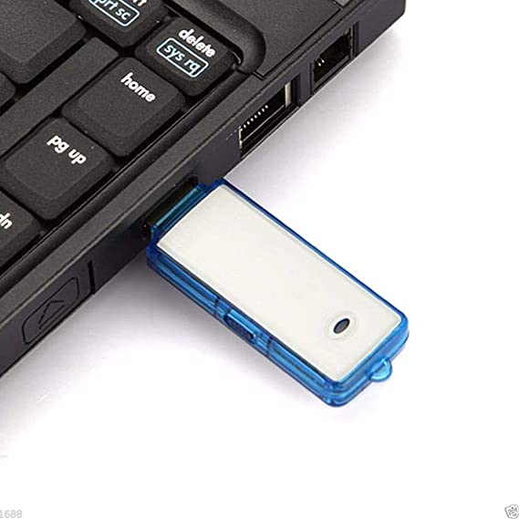 Nave USB Voice Audio Recorder Clear Hidden Recording Pendrive Flash Drive, 4 GB Memory In build