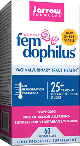 Jarrow Formulas Fem-Dophilus, 1 Billion Organisms Per Cap, Supports Vaginal and Urinary Tract Health, 60 Count (Cool Ship, Pack Of 3)
