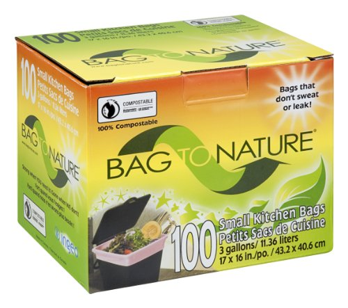 Bag-To-Nature Compostable Bag And Liner (3 gallon, 100 Count) (Things Best To Compost)