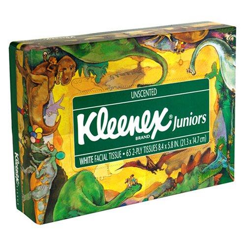 Kleenex Juniors, White Facial Tissue, Unscented - 65 count