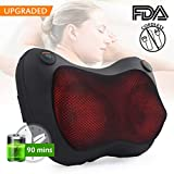 Youkada Cordless Neck Massage Pillow for Back, Shoulders, Calf, Legs, Foot, shiatsu massage pillow with Heat