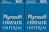 1972 PLYMOUTH REPAIR SHOP & SERVICE MANUAL & BODY MANUAL INCUDES: Road Runner, Grand Coupe, Duster (40), Valiant, 'Cuda, & Barracuda, Gran Sedan, Gran Coupe, Fury (I, II, & III), Suburban, Sport & Custom Suburban 72