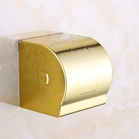 European gold-plated tissue box-sealed toilet paper holder & Amazon.com: European gold-plated tissue box-sealed toilet paper ...