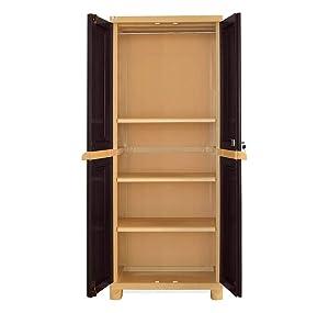 Nilkamal Freedom Big 1 (FB 1) Plastic Storage Cabinet (Weathered Brown & Biscuit)
