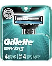 Gillette Mach 3 Men's Razor Blades, 4 Blade Refills, 4 Count