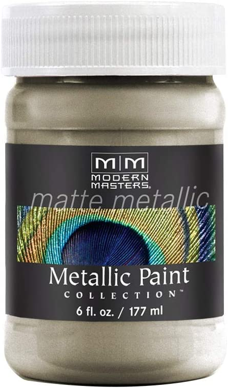 Modern Masters MM20606 Collection Metallic Paint, 6 oz, Matte Champagne
