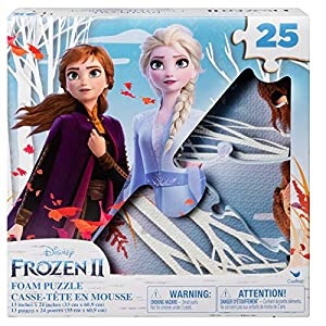 Disney Frozen 2 25-Piece Jigsaw Puzzle for Families, Kids, and Preschoolers Ages 4 and Up